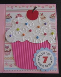 Cupcake Birthday #card by Penny Strawberry #birthday