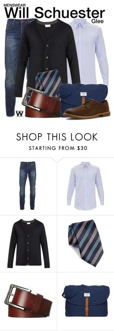 """""""Glee"""" by wearwhatyouwatch ❤ liked on Polyvore featuring Scotch & Soda, Gieves & Hawkes, Raey, Ermenegildo Zegna, Element, Sandqvist, Ben Sherman, men's fashion, menswear and television"""
