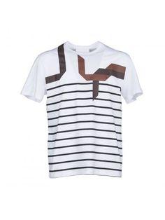 NEIL BARRETT Neil Barrett Abstract Striped T-Shirt. #neilbarrett #cloth #https: