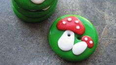 Knöpfe buttons mushrooms