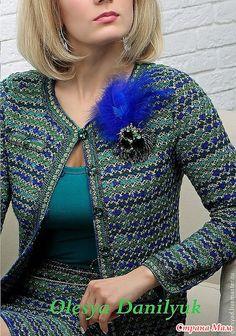d917d6b5a4b Gyönyörű horgolt kosztüm minta leírással! Очередное ХОЧУ!!! костюм в стиле  Шанель от