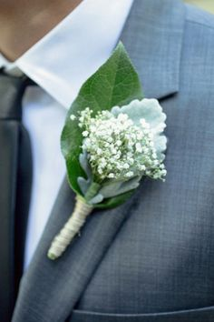 Baby's Breath Buttonhole