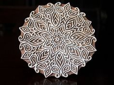 Pottery Stamps, Indian Wood Stamp, Textile Stamp, Wood Blocks, Tjaps, Printing Stamp-  Mandala
