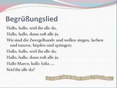 Krabbelgruppe Lieder - Begrüßungslied Kindergarten Portfolio, Kindergarten Songs, Kindergarten Projects, Toddler Crafts, Preschool Crafts, Welcome Songs, Crafts For 2 Year Olds, Finger Plays, Rhymes For Kids