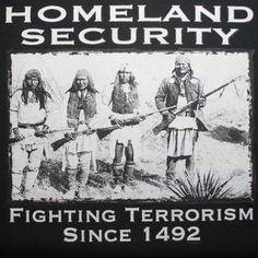 """Homeland Security Indians"" Tee"