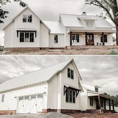 Architectural Designs on Our client jessgrubaugh is building Architectural Designs Modern Farmhouse Plan in reverse orientation with a standing seam metal Modern Farmhouse Exterior, Modern Farmhouse Decor, Farmhouse Design, Farmhouse Home Plans, Pole Barn House Plans, Pole Barn Homes, Metal House Plans, Shop House Plans, Style At Home
