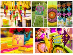 Funky sangeet decor , funky mehendi decor , quirky props like bicycle and…