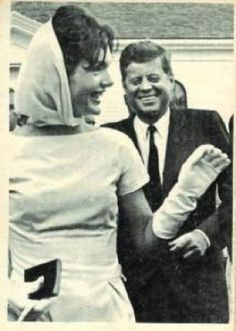 Love a candid shot of JFK & Jackie.