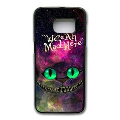 Cheshire Cat Phone Cover Case For Samsung Galaxy S7 Edge Cell Phone Black CGD203797 -- Awesome products selected by Anna Churchill