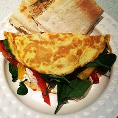 Via: @thehiitmum | Omelette and Mountain Bread toast | Healthy Recipe