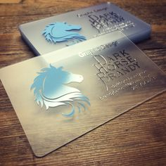 Translucent plastic business card with chrome silver ink.                                                                                                                                                     More