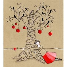 When I wear my red skirt  Art Print by LilyMoon on Etsy