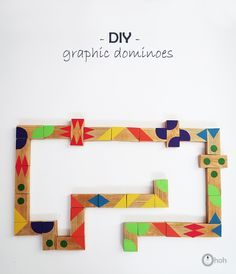 Ohoh Blog - diy and crafts: DIY graphic dominoes game for kids - DIY toys