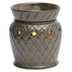 Mission Slate Mid-Size Scentsy Warmer Introduce rustic refinement into your home with Mission Slate. Shades of ebony and jade accentuate the subtle, debossed diamond pattern. Scented Wax Warmer, Tart Warmer, Rustic Stone, Home Scents, Diamond Pattern, Scentsy, Slate, Stuff To Buy, Green Diamond