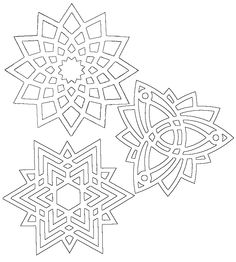 Paper Snowflake Designs, Paper Snowflakes, Cricut Stencils, String Art Patterns, Printable Adult Coloring Pages, Math Art, Paper Lace, Easy Christmas Crafts, Celtic Art