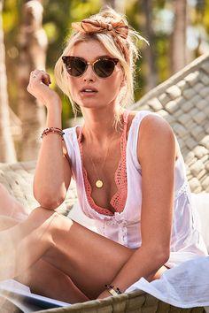 Not shy about showing a little lace. | Victoria's Secret