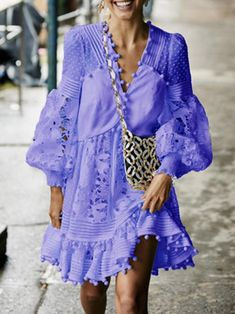 infashionchic Summer Dresses 1 Sexy Dresses High Low V Neck Balloon Sleeve Cutout Vintage Dresses Bodycon Dress With Sleeves, V Neck Dress, Dresses With Sleeves, Sleeve Dresses, Casual Dresses, Short Dresses, Sexy Dresses, Casual Clothes, Summer Dresses