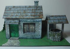 Free- download-The Old Stone House With Well Paper Model