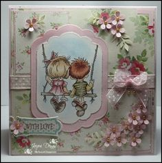 Together Forever by - Cards and Paper Crafts at Splitcoaststampers Card Making Inspiration, Making Ideas, Swing Card, Shabby Chic Cards, Scrapbook Cards, Scrapbooking, Card Sketches, Watercolor Cards, Copics
