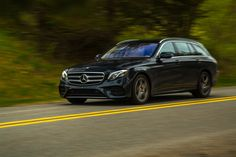 The milk-chocolate brown and cream-leather Designo interior of this 2017 Mercedes-Benz E400 4Matic calls for a tweed jacket, khaki jodhpurs, a dark green wool vest, and one of those sportif wool hats with the bird's feather sticking out from the band