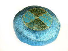 Blue Agra yoga meditation cushion