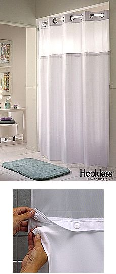 double h mystery hookless shower curtain with