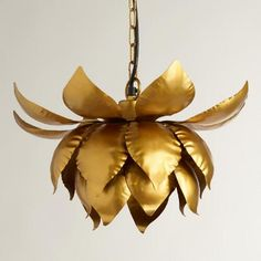 One of my favorite discoveries at WorldMarket.com: Gold Lotus Hanging Pendant Lamp