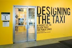 Pentagram - Designing the Taxi  Client: Design Trust for Public Space    Exhibition investigating how the New York City icon can be impoved, at Parsons the New School for Design.