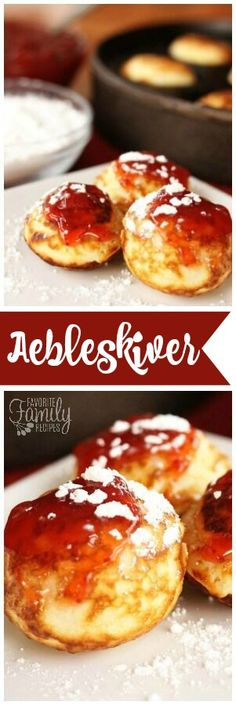 Aebleskiver is a Danish treat that is a cross between a doughnut hole and a pancake. We love aebleskiver at Christmas but you can enjoy it ANY time of year! via @favfamilyrecipz