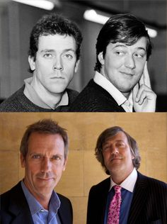 Fry and Laurie, then and now