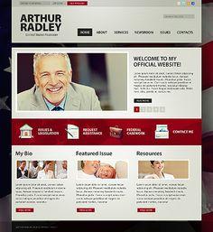 Template William Kerry Website Template Politics Website - Political website templates