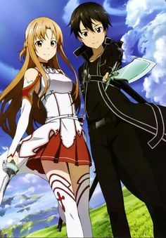 kirito and asuna - Sword Art Online #sao