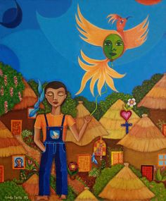 """""""Autism-a blind flight"""" painting (oil on canvas) by Madelena Lobao-Tello"""