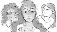 """Peggy, Angelica, & Eliza Shcuyler by szin // see szin's AMAZING animatic for """"The Schuyler Sisters"""" on YouTube // ART CREDIT GOES TO szin"""
