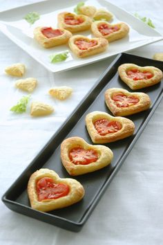 Heart-shaped tomato pies