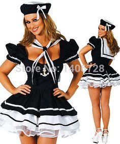 Sexy Navy Costume 1202 Womens sexy sailor halloween navy costume for women clothing navy uniforms