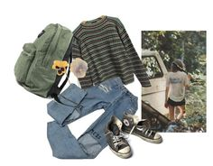 """•123 Sold my soul must be saved"" by irenegontiveros on Polyvore featuring Prada y Converse"