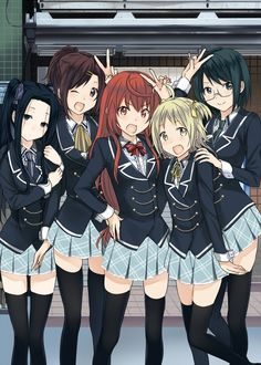 Me and my friends (left to right) Megan,Annika,Carol,Xin Yi and Lucy