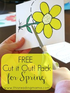 Scissor Practice: FREE Spring Cut It Out! Pack plus links to additional Free Cutting Packs {Cutting Practice Fun} Cutting Activities, Fine Motor Activities For Kids, Spring Activities, Montessori Activities, Preschool Activities, Kids Learning, Physical Activities, Dementia Activities, Scissor Practice