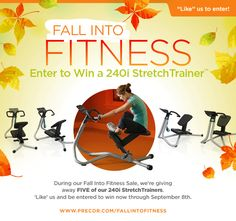 During our Fall Into Fitness sale, we're giving away FIVE 240i StretchTrainers. Enter now through September 8th: http://woobox.com/xoy49k