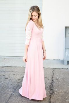 Have you ever seen a maxi dress that is more elegant, feminine, or flawless? We didn't think so. You are going to have this beauty on repeat and we totally don't blame you. The color is a feminine dus