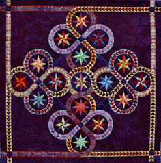 """Follow Me"", 52 x 52"", flying geese quilt pattern by Jacqueline de Jonge 