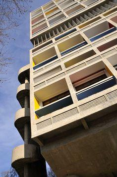 l'Unite d' Habitation (La Cité Radieuse) by architect Charles-Edouard Jeanneret Le Corbusier, 1952