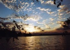 Clouds over a lake during sunset The Places Youll Go, Places To Visit, Ontario Parks, Bass Lake, Beautiful Park, Pretty Pictures, Summer Fun, The Good Place, Nature