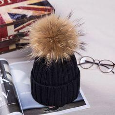 $8.90 (Buy here: https://alitems.com/g/1e8d114494ebda23ff8b16525dc3e8/?i=5&ulp=https%3A%2F%2Fwww.aliexpress.com%2Fitem%2F2016-Women-Casual-Solid-Acrylic-yarn-Fur-Hat-Warm-Elastic-Hats-Girl-Winter-Elegant-Lady-Beanies%2F32700042961.html ) Women Men's Winter Hats Acrylic Yarn Knitted Hat with 13cm Raccoon Fur Pompons Headgear for Women Autumn Men's Winter Knit Cap for just $8.90