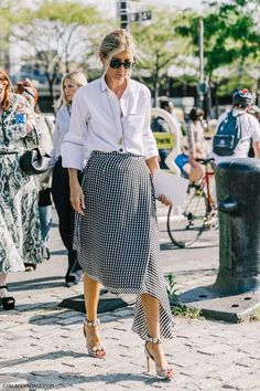 The Fashion Magpie // Gingham Street Style.