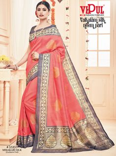 Glam yourself in the shine of the latest collections from Vipul Fashions. Get maximum discount on sarees, designer dresses and kurtis only from www.vipulfashions.com #VipulFashion #Sarees #ValkalamSilk