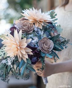 Wow your guests with an intricate and complex bouquet. #wedding #flowers #bouguet