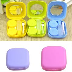 Cheap cute container, Buy Quality portable container directly from China case kit Suppliers: OnnPnnQ 1 pc hot selling Pocket Mini Contact Lens Case Travel Kit Mirror Container High Quality Cute portable 5 colors Bbq Accessories, Colored Contacts, Eye Jewelry, Travel Kits, E Bay, Portable, Storage Boxes, Plastic Bottles, Housekeeping