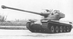 AMX 50-120 - improved prototype of French heavy tank. Bigger turret with 120 mm gun mounted on slightly modified hull.